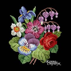 Code 140121 The size of the scheme is 90x100 stitches. A palette of 39 colors in DMC. The scheme uses only one type of stitch - a full cross. The scheme is suitable for embroidery with beads and petit point. The background for this embroidery will suit anyone but white. Price 4$