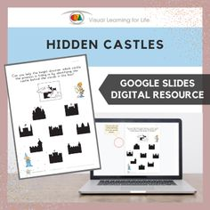 This digitally interactive resource is designed for use with Google Slides. This resource contains 10 slides in total. Answer sheets are included.The student must find the castle that is the same as the one that is hidden behind the clouds, and drag the red circle to the correct answer.