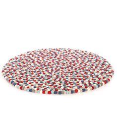Happy as Larry - In my Nest Firecracker Rug - The Original 100% Wool Felt Ball Rug - Nursery Decor www.inmynest.com.au