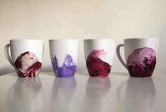 These beautiful DIY marble mugs are made of items you already have around the house, including nail polish.