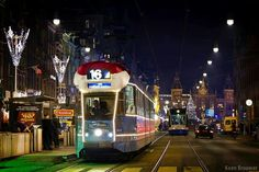 Tram with christmas