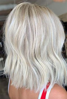 59 Icy Platinum Blonde Hair Ideas: Platinum Hair Color Shades to Inspire Short Platinum Blonde Hair, Ashy Blonde Hair, Bright Blonde Hair, Platinum Blonde Hair Color, Blonde Hair Looks, Bleach Blonde Hair, Blonde Hair With Highlights, Platinum Blonde Hairstyles, Blonde Short Hair