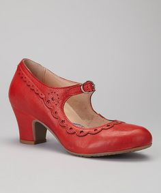 Coral Mary Jane by Brako on #zulily