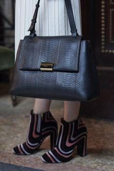 Exclusive Photos Shot for PurseBlog of the Ferragamo Gancio Clip Top Handle Bag