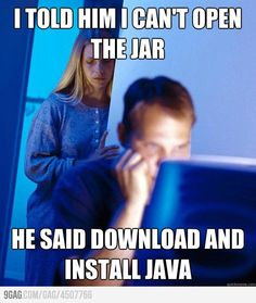 It's entirely possible this will happen to me at some point in my life, although probably with Ubuntu instead of Java...