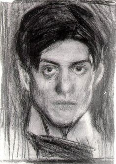 "Pablo Picasso self-portrait drawing, 1900. From ""100 Self-Portrait Drawings from 1484 to Today"""