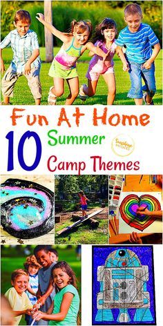 Are you looking for something fun and creative to do with your kids this summer? Many of them won't be able to go to summer camps this year so why not make a super fun summer camp right at home! Your kids will be delighted with these fun camp themes. Moms, they are totally doable! Give your kids a fun summer camp at home with these awesome ideas! #summer #summerfun #summercamp #campthemes #campideas Summer Camp Themes, Outdoor Activities For Kids, Summer Activities For Kids, Camping Activities, Summer Camps, Family Activities, Happy Summer, Summer Fun, Summer Ideas