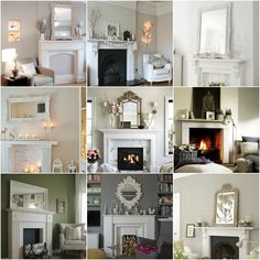 Fire Place Styling Faux Fireplace, Fireplace Ideas, Fireplaces, Interior Decorating, Interior Design, Interior Ideas, Wooden Flooring, Bay Window, Gallery Wall