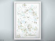 Baby Custom Gift Print  Tweet Tweet  Unframed by LeoLittleLion, $37.00