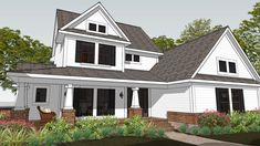 The stunning craftsman house plan for a mountain vista. The rear covered porch is the ideal spot for observing nature's beauty. Catch a glimpse of the view from the second-story balcony.