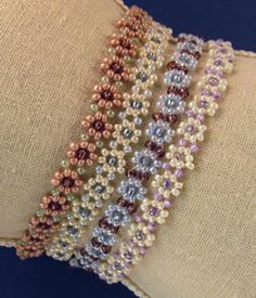Free Pattern - Daisy Chain Bracelet or Necklace at Sova-Enterprises.com
