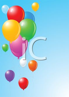 iCLIPART - Royalty Free Clipart Image of Balloons on Blue