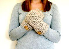 CROCHET GLOVES PATTERN, Crochet Pattern, Crochet Gloves, Crochet Mitten Pattern, Womens Gloves, Instant Download - The Tessa Wrist Warmers