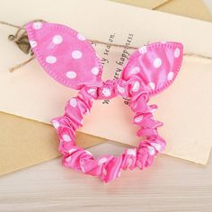 e991f3e3f572e 2017 New Elastic Head Flower Cloth Knot Bow Hair Bands Scrunchie Rabbit  Ears Rope Ring Headwear Accessories For Women Headbands
