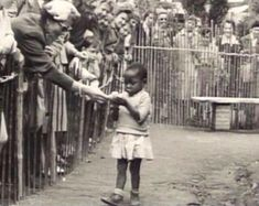 Not so long ago: African girl in human zoo. The 1958 Expo in Brussels had a 'Congo Village' (Congo was a Belgian colony) where Congolese people were 'displayed'. Belgium 1958 #History