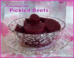 Pickled Beets are a Newfoundland specialty served with the vegetables in a cooked dinner. Sweet and sour with a hint of spice, these make a wonderful complement to dinner. Rock Recipes, Beet Recipes, Canning Recipes, Pudding Recipes, Veggie Recipes, Chicken Recipes, Raspberry Oatmeal Muffins, Lemon Muffins, Healthy Eating Recipes