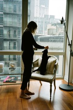 Almost 4 months ago I shared my series Girls and Their Cats on Bored Panda. It was so well-received by women who wanted to participate in the series, that I decided to make it an ongoing project on Instagram.   So far it's been New York women only, but I would eventually like to expand to other cities and maybe even other countries.
