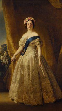 Queen Victoria 1845Portrait by Franz Xaver Winterhalter