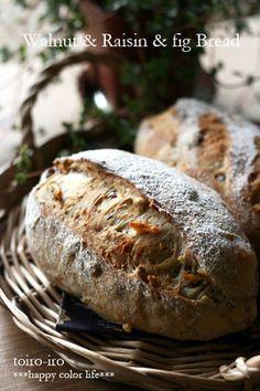 フワフワ★くるみとレーズンとフィグのパン