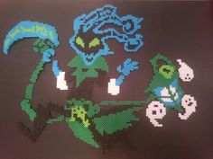 Tresh from League of Legends in Perler Beads