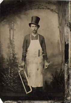 Even though he stayed behind as a butcher and grocer in Germany when the family circus troupe immigrated to America, Ulrich Zeitgeist sported the topper he wore performing with the Zeitgeist Circus for decades afterwards. Photo circa 1888. (caption authored by Fritz die Spinne, and is pure fiction)