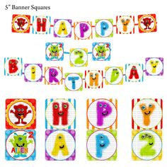 Monster Party  Banner Monster Birthday Party by SDBDIRECT on Etsy, $5.99