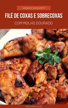 Chicken Wings, Gourmet Recipes, Poultry, Chicken Recipes, Food And Drink, Low Carb, Cooking, Pernil, Camila