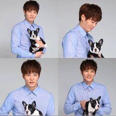 IG @ joowon _thailand_fanclub:Friday Morning~^^ อรุณสวัสดิ์วันศุกร์สดใสค่ะ... เปิดบ้านทักทายกันด้วยภาพจูวอนกับน้องหมา น่ารักทั้งคู่เลย ❤️❤️ #JooWon #주원