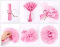 10 pieces / lot tissue paper Pom Poms flower balls for wedding room party decoration supplies diy craft paper flower,post_tags] Tissue Flowers, Paper Flowers Diy, Flower Crafts, Diy Paper, Tissue Paper Pom Poms Diy, Tissue Paper Decorations, Paper Poms, Paper Garlands, Tissue Paper Crafts