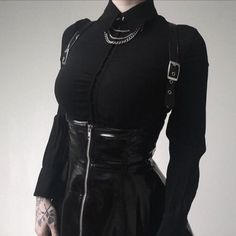 Gothic Fashion 550354016960551529 - Grafika użytkownika s є m p i t є r n a l Source by anablckwd Style Outfits, Edgy Outfits, Gothic Outfits, Grunge Outfits, Cute Outfits, Fashion Outfits, Fashion Clothes, Fashion Ideas, Fashion Mode