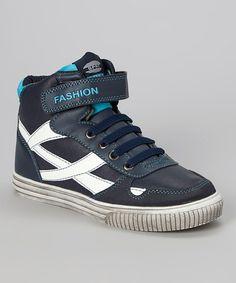 Another great find on #zulily! Navy Wave Hi-Top Sneaker by RWalker #zulilyfinds