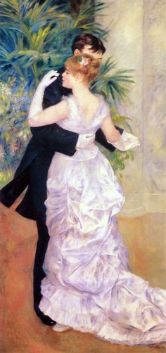 Dance in the City by Pierre-Auguste Renoir; art; artist; paintings; painting; couples; lovers; romance; romantic