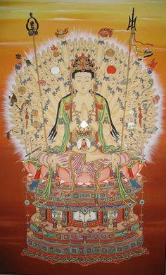 Thousand-armed Kuan Yin Sacred Geometry Art, Esoteric Art, Tibetan Art, Buddha Art, Goddess Of Love, Guanyin, Religious Art, Chinese Art, Deities