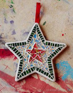 Star Ornaments of 2010 - Cherie Bosela - Fine Art Mosaics & Photography -