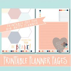 HAPPY PLANNER Printable Filler Pages | Planner Refills / BIG Inserts - 8.5x11 | Starfish | Create 365 | Me & My Big Ideas | mambi |Undated by…