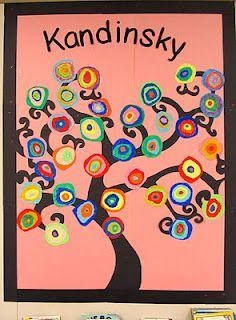 tree art... Idea for bulletin board