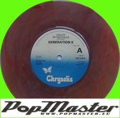 Generation X Valley Of The Dolls CHS 2310 Colour Vinyl  Punk Winyl (Billy Idol)