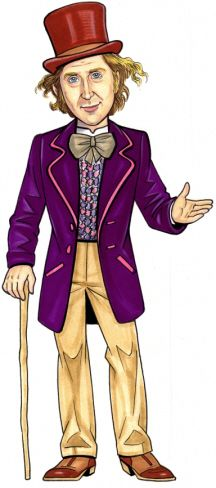 Willy Wonka Cutout / The candy man can!