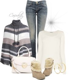 """""""Sweater Poncho"""" by casuality on Polyvore"""