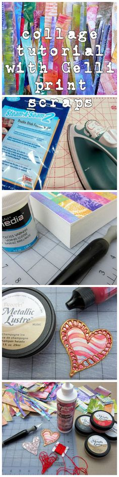 A Valentine Collage tutorial from Gelli Arts http://bit.ly/1Kiyh3H