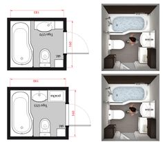 Image result for bathroom 1.6 x 1.65