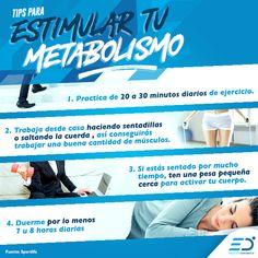 ¿Necesitas agilizar tu cuerpo? Aquí te dejamos unos tips para estimular  tu metabolismo. #CorreConEmoción #Runner #Corredora #metabolismo #ejercicio