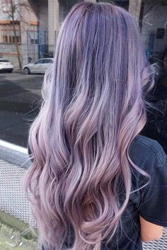 We have compiled a list of our favorite long layered haircuts. For those women who are looking for a fun, funky new style. Hair Color Purple, Cool Hair Color, Green Hair, Pastel Purple Hair, Light Purple Hair, Blue Hair, Beautiful Hair Color, Lavender Hair, Aesthetic Hair