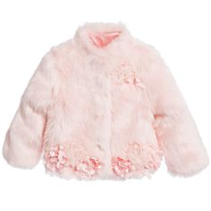 Kate Mack & Biscotti Baby Girls Pink Synthetic Fur Jacket at Childrensalon.com