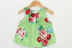 I think sew: baby tunic dress pattern. Oh so adorable!