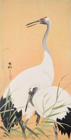 Koson (1877-1945) - Two Cranes, 1915