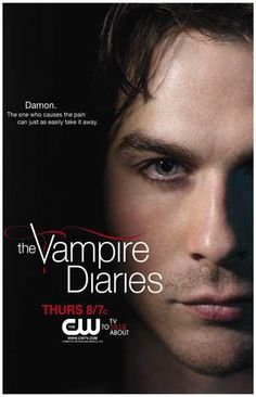 The Vampire Diaries Damon Ian Somerhalder TV Show Poster 11x17
