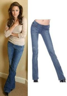 Angelina Jolie Casual Blue Jeans
