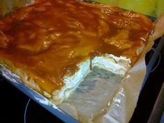 KARAMELOVÝ VĚTRNÍK NA PLECH  Ingredience: Cukr moučka 3 lžíce  Máslo 250+230 g  Mléko 750 ml  Mouka hladká 230 g  Pudinkový prášek karamelový, 2 ks  Sůl špetka  Šlehačka 1  Vejce 8-9 ks  Voda 750 ml TĚSTO: Vodu rozehřejeme s máslem a solí, pak najednou přidáme mouku a za stálého míchání vaříme na mírném ohni tak dlouho až se těsto nelepí na vařečku.
