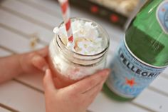 mineral water w torani syrup plus whipped cream equals-holy mary mother of goodness...cute blog too